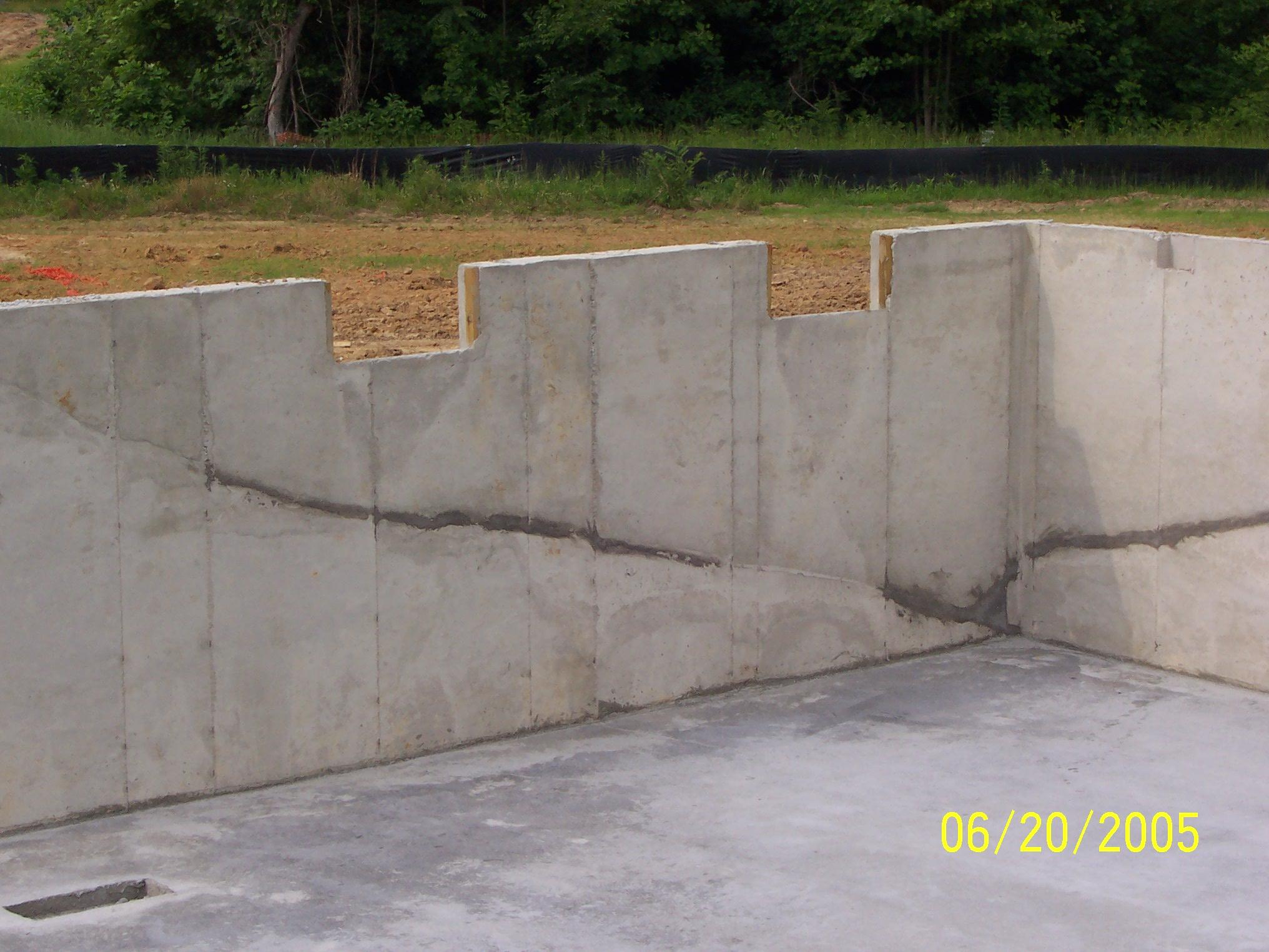 New home construction foundation diagonal crack internachi for New home foundation