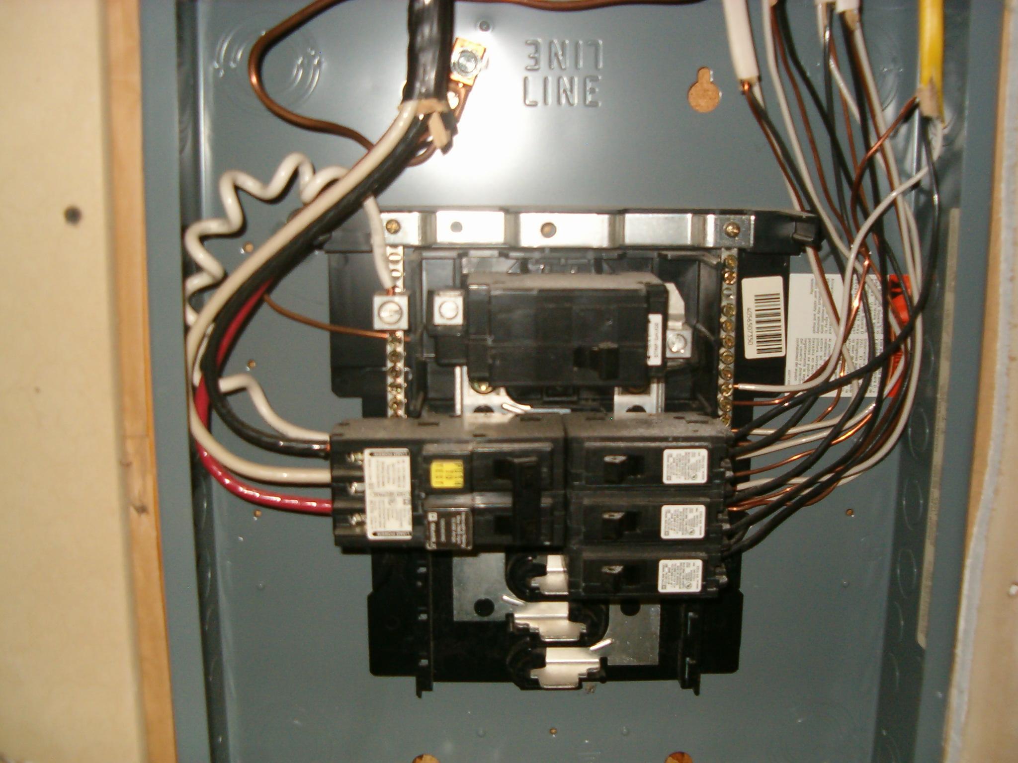 Wiring Gfci Breaker Sub Panel Car Diagrams Explained 50 Diagram Furthermore Hot Tub 220 Subpanel Fed Into Internachi Rh Nachi Org Siemens Troubleshoot