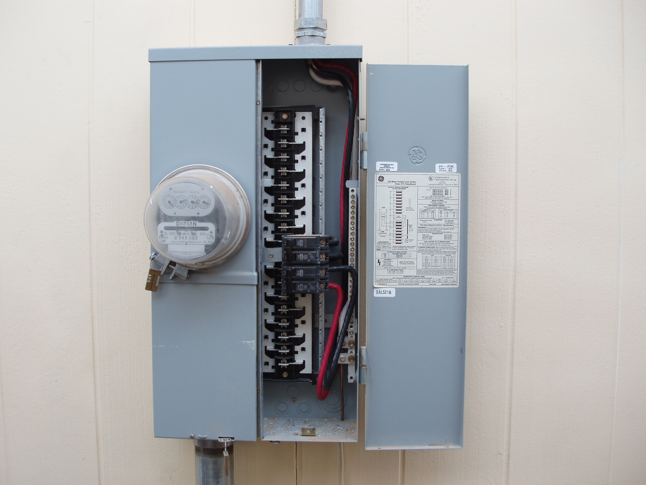 4-100 amp breakers in 125 amp rated panel w/ 100 amp meter?