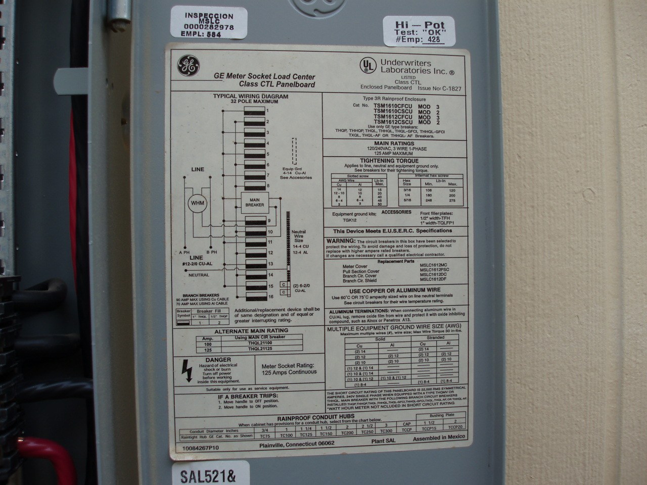 4-100 amp breakers in 125 amp rated panel w/ 100 amp meter? - InterNACHI