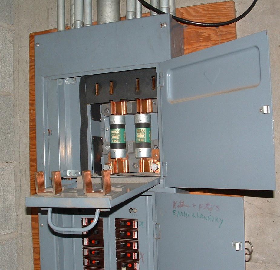Fused 200 Amp Main Panel