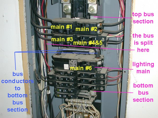 Explanation of Main Panel Circuitry/Design - Electrician Talk ...