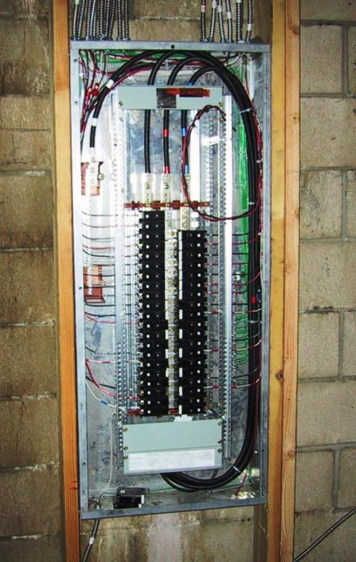 here is a 3 phase house panel used in an apartment building in san diego: