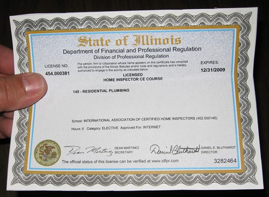 State Of Illinois Department Of Financial And Professional Regulation