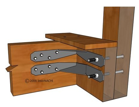 inspecting a deck illustrated internachi. Black Bedroom Furniture Sets. Home Design Ideas