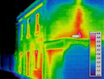 thermal image from home inspection rapid city sd