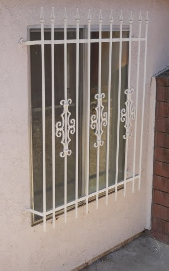 Window bars for a ground-floor window