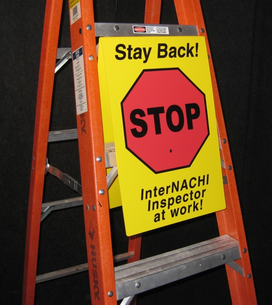 """Stay Back"" warning sign"