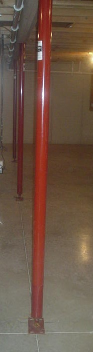 Adjustable steel column found during a home inspection in Spearfish sd