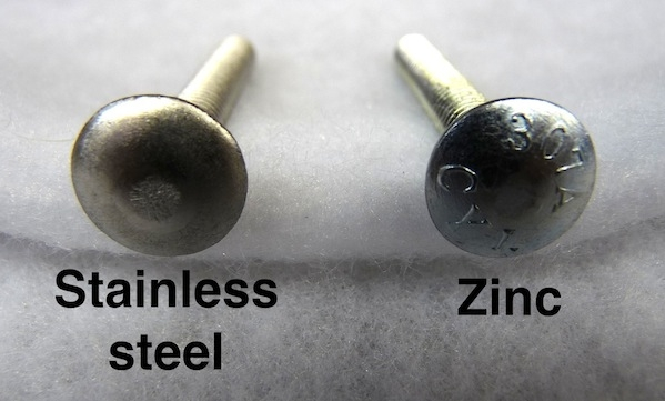 Zinc Or Galvanized Bolts For Deck