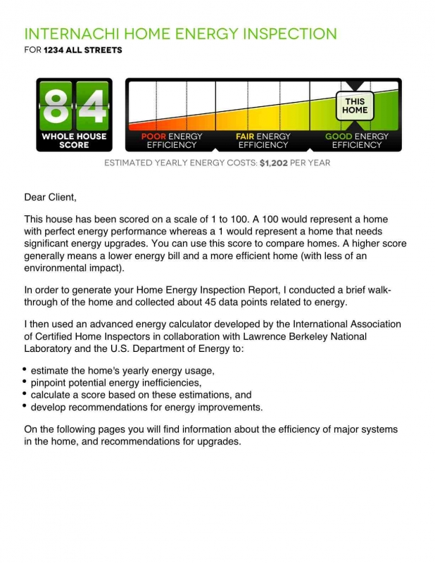 home energy inspection report