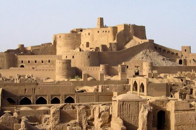 La ciudadela Bam de Irán, cual fue destruido en el terremoto del 2003