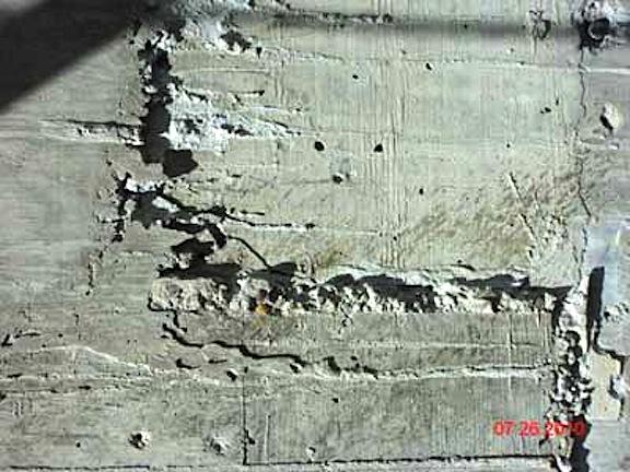 Visual inspection of concrete internachi for Concrete freezing