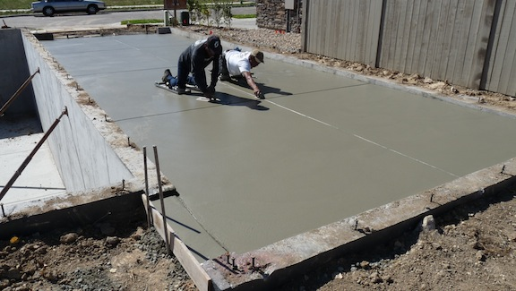 Visual inspection of concrete internachi for How long to build a house after foundation is poured