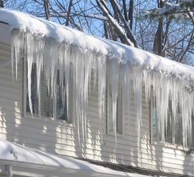 Ice dams may form on un-vented roofs