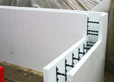 Icf inspection and termites internachi for Foam concrete forms