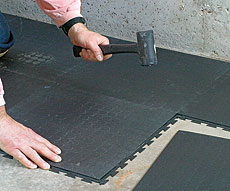 rubber flooring inspection - internachi