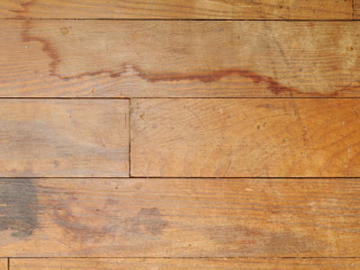 This Laminate Flooring Shows Signs Of Water Staining