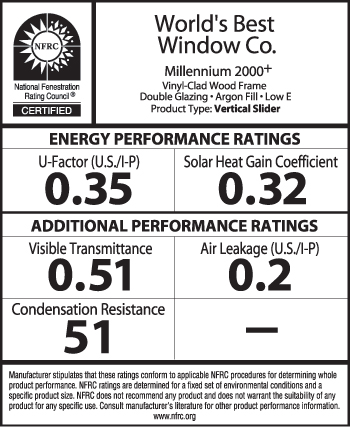 An example of an NFRC-certified product label