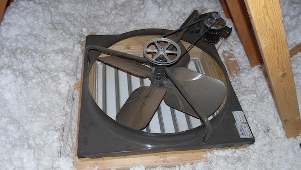 Roof mounted attic fan natashamillerweb whole house fan aloadofball Choice Image