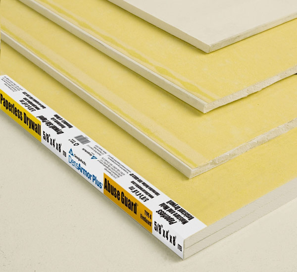 Yellow Gypsum Board : Paperless drywall int l association of certified home