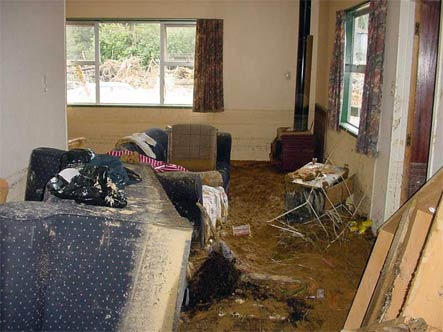 Good boots can protect against sharp debris in flood-damaged buildings