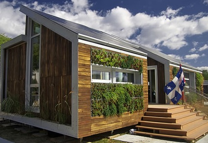 Biowalls have many health and financial benefits when implemented properly.  This biowall was constructed by Team Montreal for the Solar Decathlon 2007.