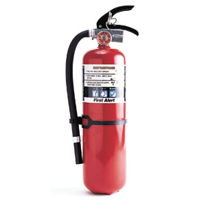 Fire extinguisher use instructions
