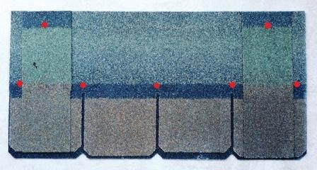 heavy laminated shingle steep slope Asphalt Composition Shingle Fasteners