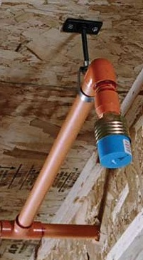An installed residential sprinkler in new construction