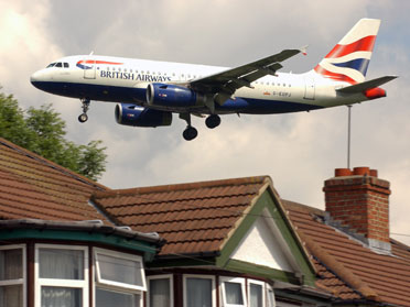Occupants of houses situated beneath flight paths may find the sound unbearable