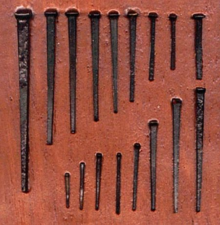 Crude, square nails may be hundreds of years old