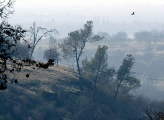 Wood-burning stoves account for the smoke pictured in this photo taken in Chico, CA