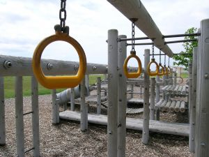 Playground equipment can cause serious injury