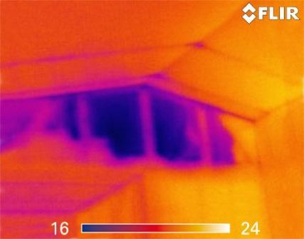 Ir Cameras Inspecting For Air Leaks Internachi