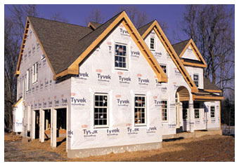 Tyvek� housewrap is used as a moisture and vapor barrier