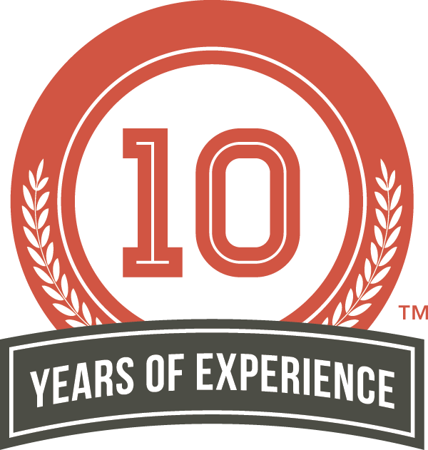 the 10 years of experience logo is available for use by all internachi members who have been a