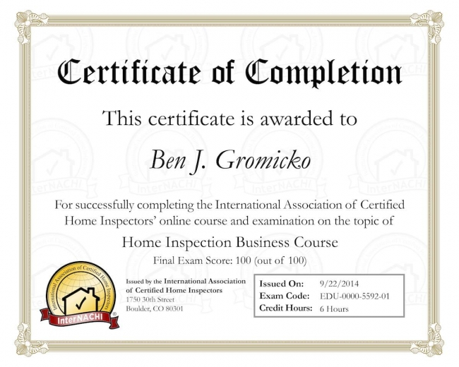 """Take InterNACHI's free, online """"Home Inspection Business Course."""""""