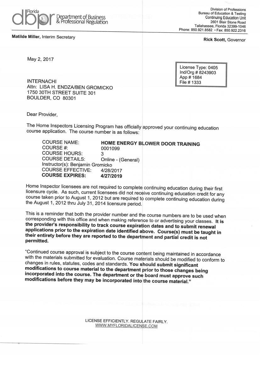 Continuing Education for Florida Home Inspectors - InterNACHI