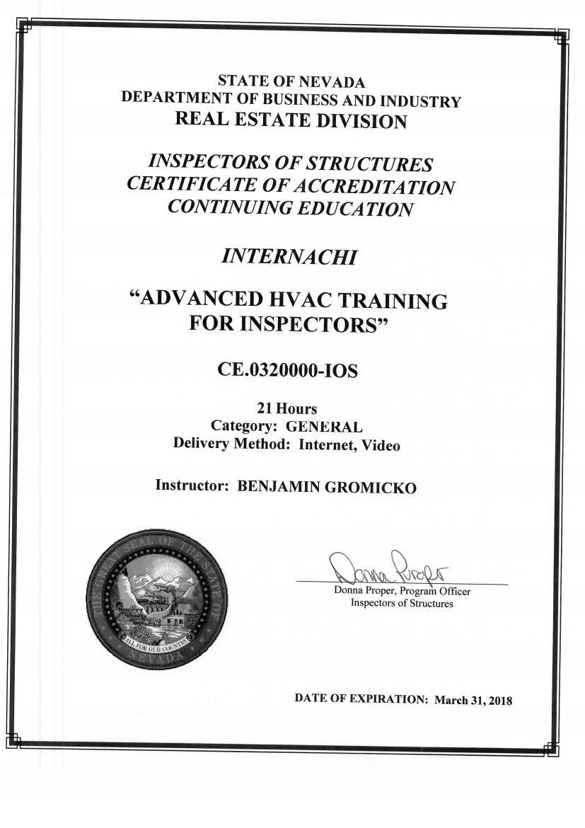 How To Become A Certified Home Inspector In Nevada Internachi
