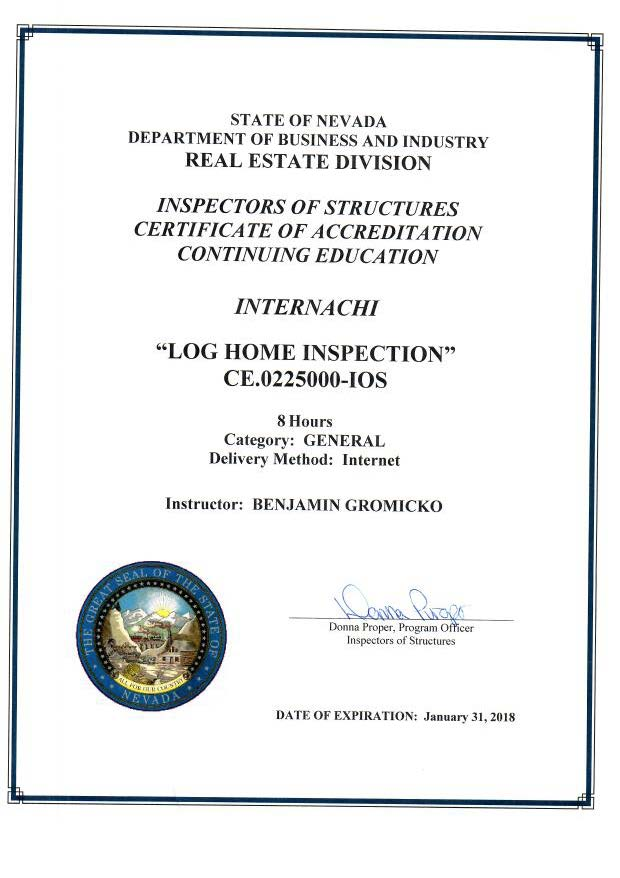 how to become a certified home inspector in california