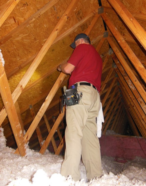 Inspecting Blown Insulation Home Inspection Lake Charles Agi
