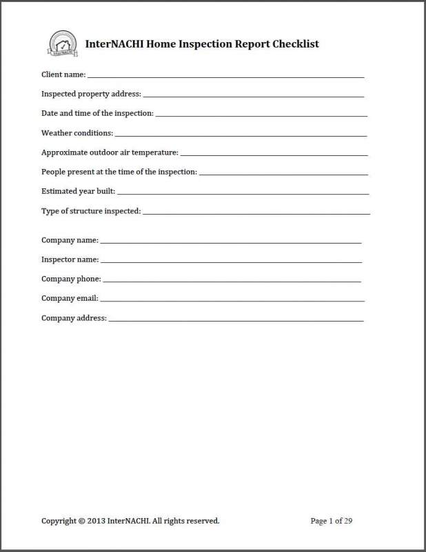 Free Online Inspection Checklist For Submitting Mock Reports