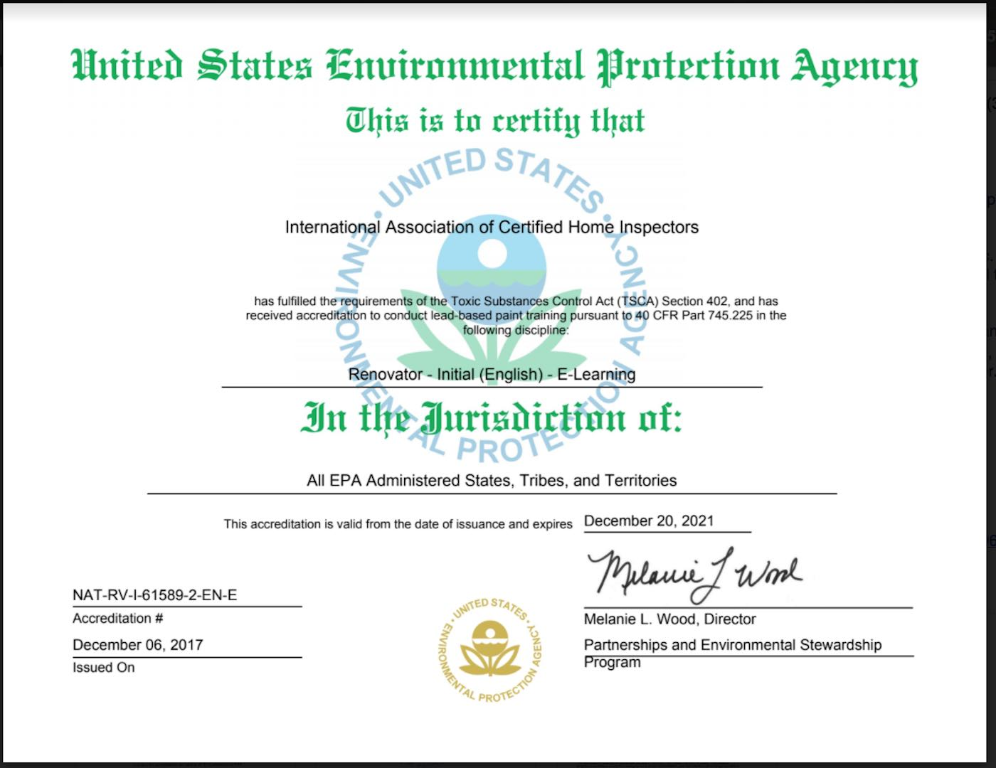 Become A Us Epa Certified Renovator Internachi