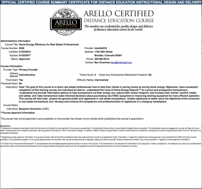 Online, ARELLO-Approved Continuing Education Courses for Real Estate ...