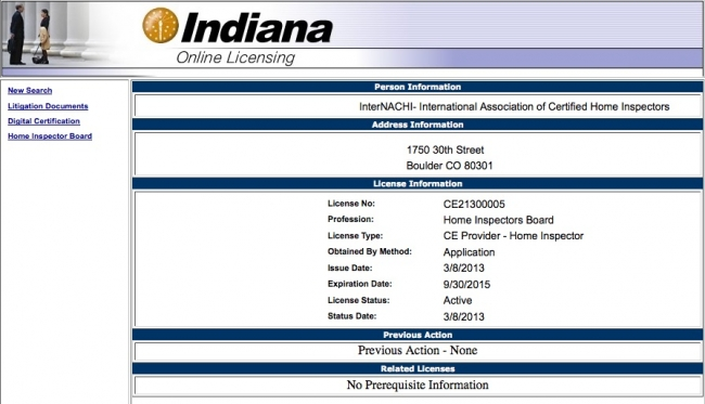 View Indiana S Approval Of Internachi As Ce Provider For