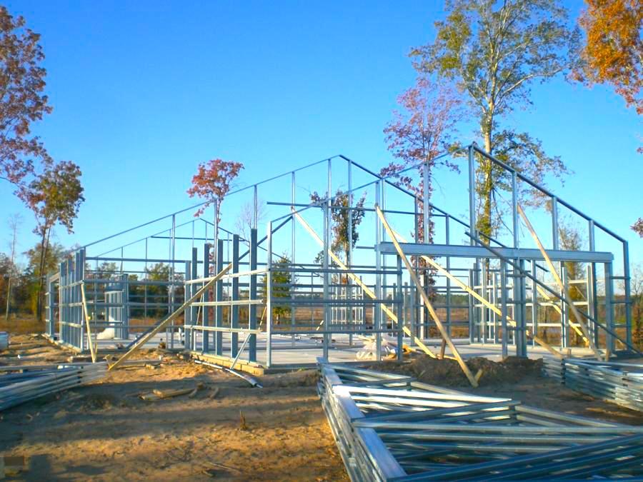Budowa ściany szkieletowej o konstrukcji stalowej