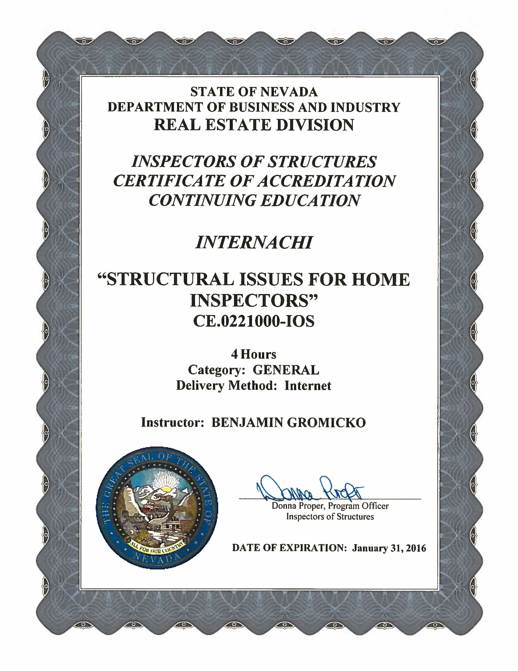 How to become a certified home inspector in nevada internachi view approval of residential electrical inspections sciox Image collections