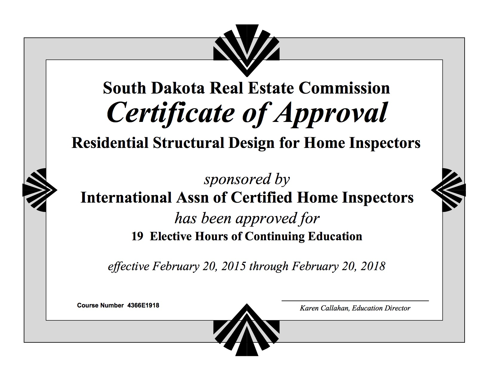 How to become a home inspector in south dakota internachi view approval of how to inspect septic systems course 1betcityfo Gallery