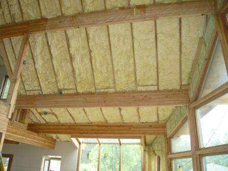 Inspecting Spray Foam Insulation Applied Under Plywood and OSB